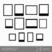 Insta Frames Die Cut Files (Commercial Licensing Available)