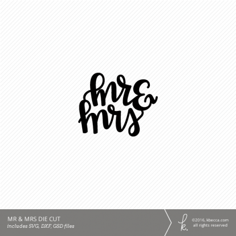 Mr & Mrs Hand Lettered Digital Cut File (Commercial License Available)