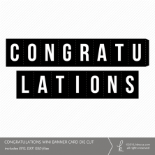Congratulations Folding Mini Card Die Cut File from k.becca