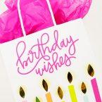 DIY Die Cut Birthday Candle Gift Bag (Same Design, 3 Sizes)