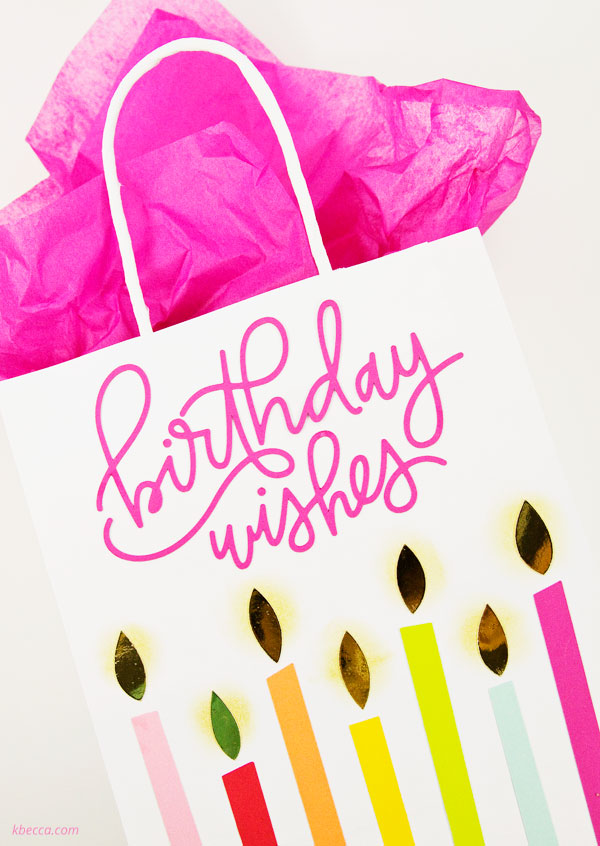 Video : DIY Birthday Candle Gift Bags (Same Design, 3 Sizes)