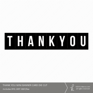 Thank You Folding Mini Card Die Cut File from k.becca