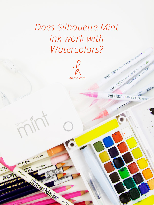 Does Silhouette Mint Ink Work with Watercolors?