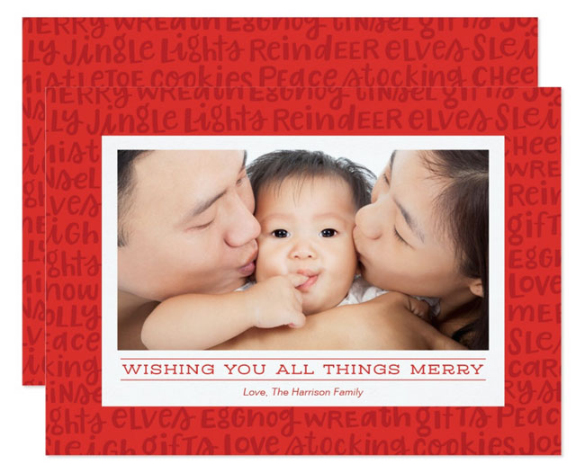 All Things Merry Holiday Photo Card for Zazzle by K.becca