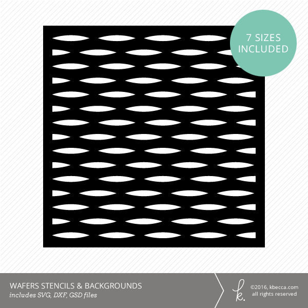 Wafers Stencil & Background Die Cut Files (SVG included)