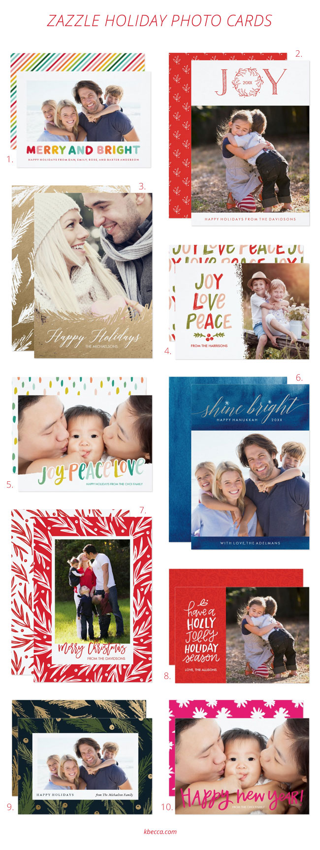 Zazzle Holiday Photo Cards by K.becca