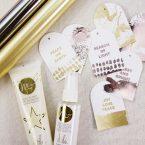 DIY Hot Foil Gift Tags with Minc Reactive Paint & Mist