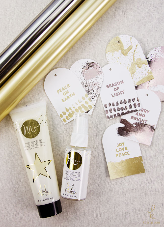 DIY Hot Foil Gift Tags with Minc Reactive Paint & Mist