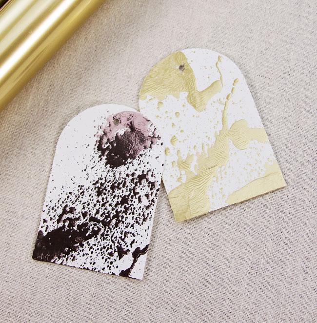 Minc Reactive Mist Foil Gift Tags
