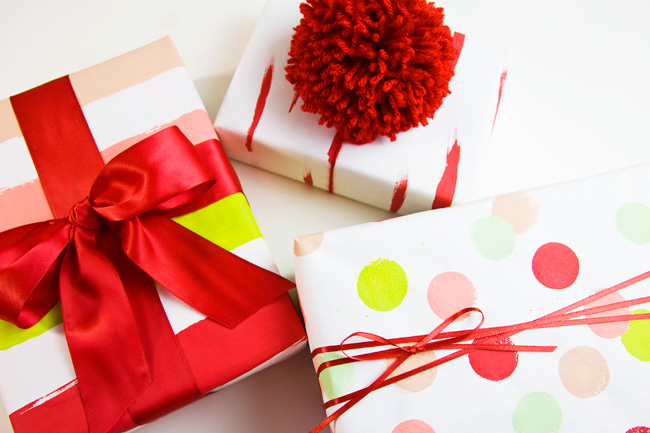 DIY Hand Painted Wrapping Paper (Video)