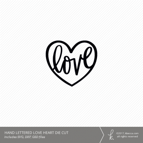 Love Heart Digital Cut File (Commercial License Available)
