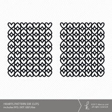 Hearts Pattern Digital Cut File (Commercial License Available)