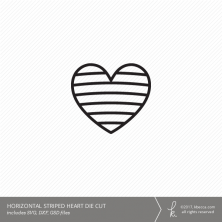 Heart Cut File - Horizontal Lines (Commercial License Available)