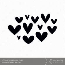 Lots of Hearts Digital Cut Files (Commercial License Available)