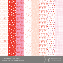 Love Always Digital Patterns (Commercial License Available)