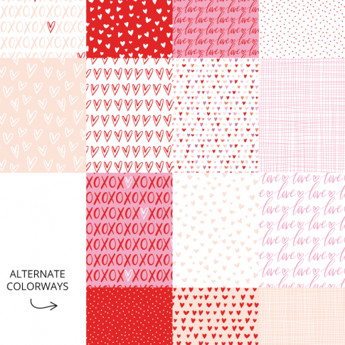 Love Always Digital Patterns Preview