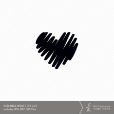 Scribble Heart Digital Cut File (Commercial License Available)