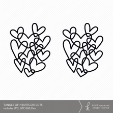 Tangle of Hearts Digital Cut Files (Commercial License Available)