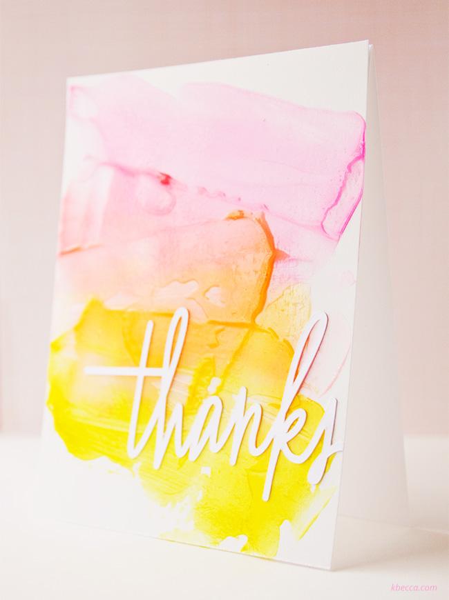 Video : Ranger Transparent Gloss Texture Paste Thanks Card