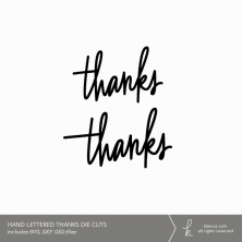 Hand Lettered Thanks Cut Files