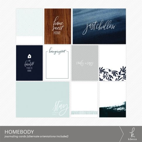 Homebody Journaling Cards from k.becca