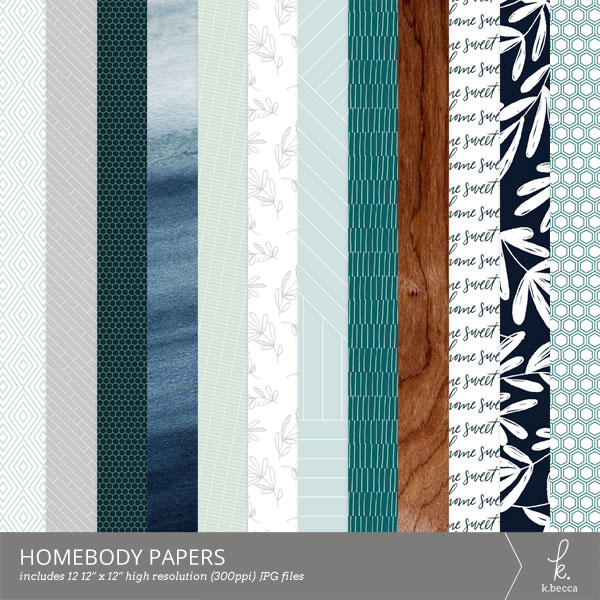 Homebody Digital Patterns from k.becca