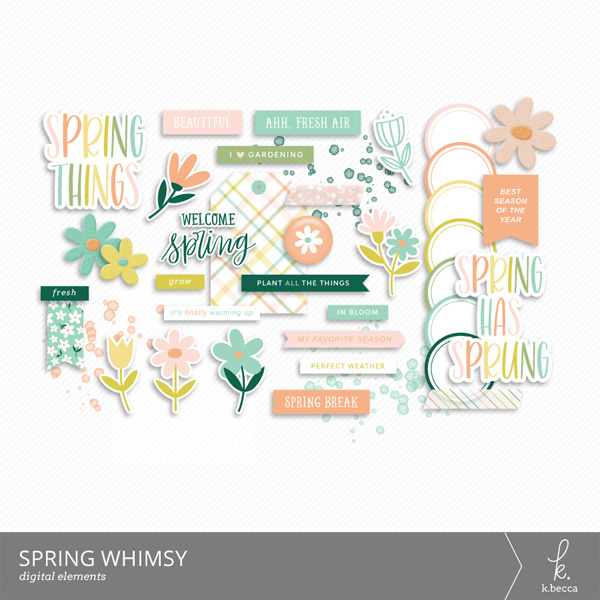 Spring Whimsy Digital Elements from k.becca