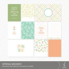 Spring Whimsy Journaling Cards from k.becca