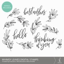 Whimsy Leaves Botanical Clip Art Digital Stamps / Overlays from k.becca