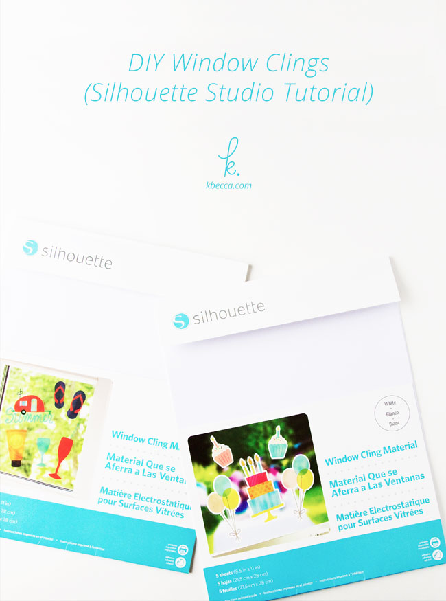 Video : DIY Window Clings Silhouette Studio Tutorial