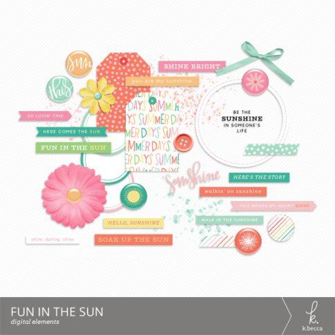 Fun in the Sun Digital Elements from k.becca