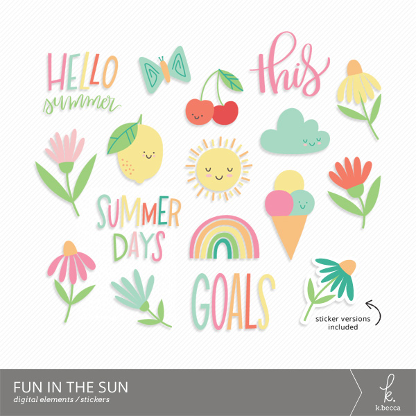 Fun in the Sun Digital Elements & Stickers from k.becca