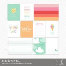 Fun in the Sun Journaling Cards from k.becca