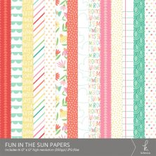 Fun in the Sun Digital Patterns from k.becca