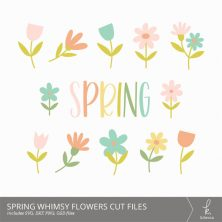 Spring Whimsy Digital Cut Files from k.becca (Commercial Licensing Available)