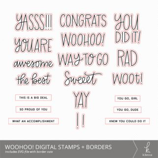 Woohoo! SVG Digital Stamps + Border Cuts from k.becca