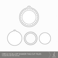 Circle Scallop Shaker Tag Cut Files