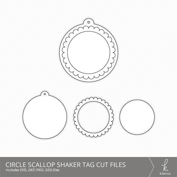 Circle Scallop Shaker Tag Cut Files