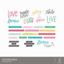 Daydreamer Words & Phrases Digital Elements