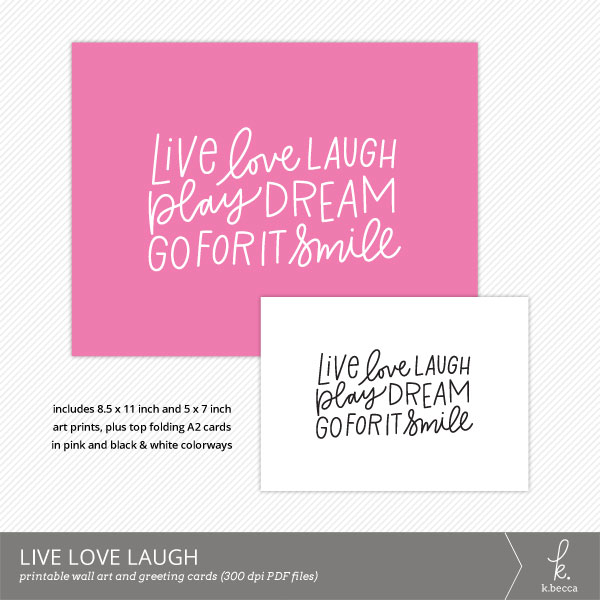 Live Love Laugh Digital Art Print from k.becca
