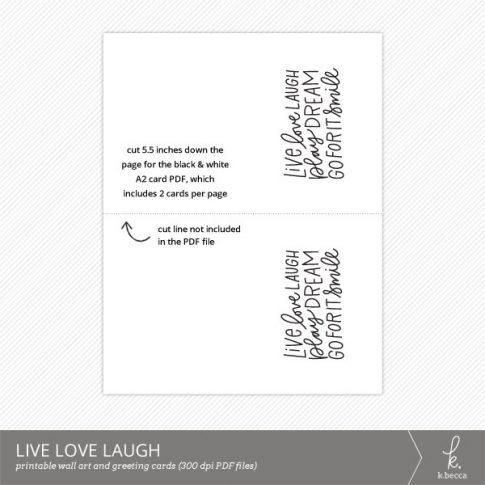 Live Love Laugh Digital Art Print from k.becca