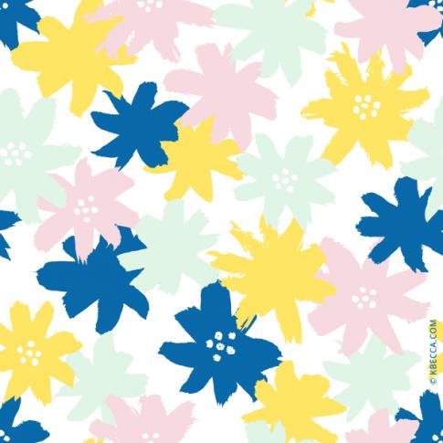 Brush Floral Clip Art Pattern (Vector Included) | kbecca.com