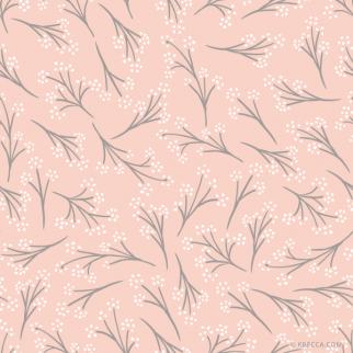 Blush Pink Baby's Breath Clip Art Pattern (Vector Included) | kbecca.com