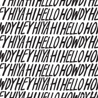 Hand Lettered Hello Clip Art Pattern (Vector Included) | kbecca.com