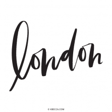Hand Lettered London Vector Clip Art | kbecca.com