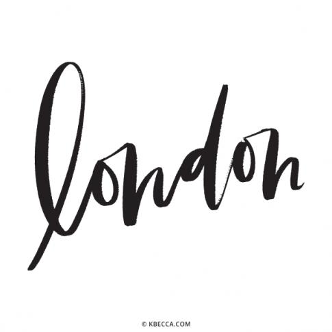 Hand Lettered London Vector Clip Art | kbecca.com