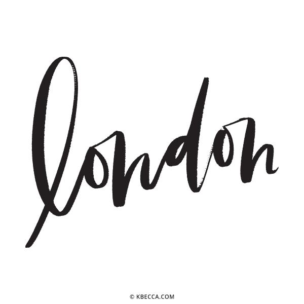 Hand Lettered London Vector Clip Art   kbecca.com