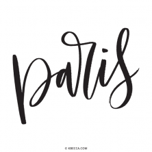 Hand Lettered Paris Vector Clip Art | kbecca.com