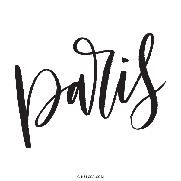 Hand Lettered Paris Vector Clip Art   kbecca.com