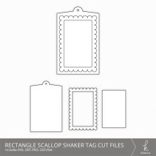 Rectangle Scallop Shaker Tag Cut Files